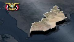 Lahij with Coat of arms animation map Stock Footage