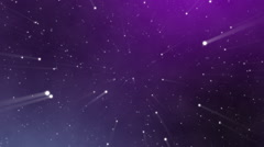 Stars with lightrays Stock Footage