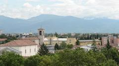 Italian suburb near Alps Stock Footage