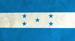 Honduran flag waving in the wind (full frame footage) Stock Footage