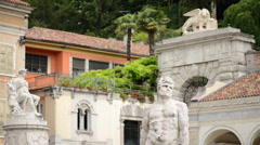 Classical Italian Street Art Sculptures Stock Footage