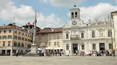 Beautiful Italian Town Square Stock Footage
