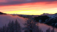 Wonderful dramatic timelapse sunset in the mountain-Austria  Stock Footage
