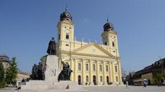 Reformed Great Church of Debrecen Nagytemplom Stock Footage