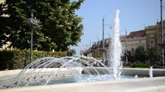 Neat Fountain on a Sunny Day Stock Footage