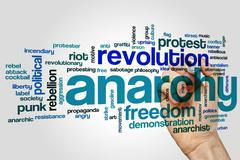 Anarchy  word cloud - stock photo