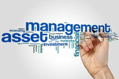 Stock Photo of Asset management word cloud