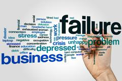 Stock Photo of Failure word cloud