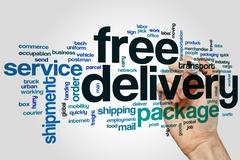 Free delivery word cloud Stock Photos