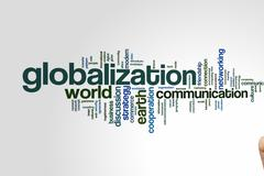 Globalization word cloud Stock Photos