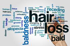 Hair loss word cloud Stock Photos