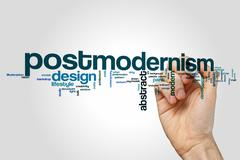 Postmodernism word cloud concept - stock photo