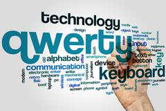 Qwerty word cloud - stock photo