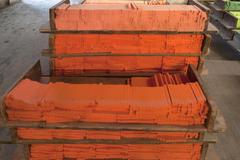 Production of chalk Drei Sterne Kreiden company cut colored chalk Schwabach - stock photo