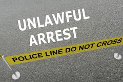 Unlawful Arrest concept Stock Illustration