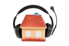 Stock Photo of House with headphones