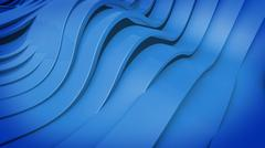 Abstract 3D Wavy band surface. - stock illustration