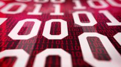 Closeup of Binary code. Stock Illustration
