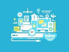 Internet of things - stock illustration
