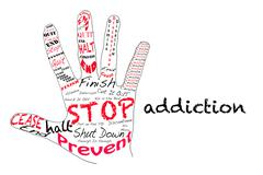 Stop Addiction Stock Illustration