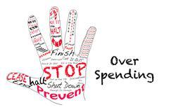 Stop Over Spending Stock Illustration