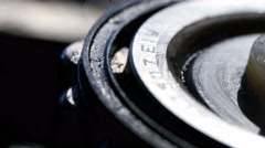 bearing in the transmission of the car, close-up  - stock footage