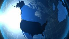 USA. Zooming into Unated States on the globe. Stock Footage