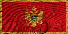 Stock Illustration of Montenegro flag