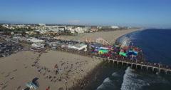 Circling around the Santa Monica Pier Stock Footage