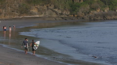Surfing in Nicaragua Stock Footage