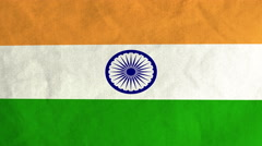 Indian flag waving in the wind (full frame footage) Stock Footage