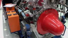 Internal organization Engine Of helicopters. - stock footage