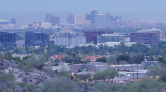 Downtown Phoenix from Paradise Valley - stock footage