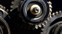 transmission mechanism of the car, close-up  - stock footage
