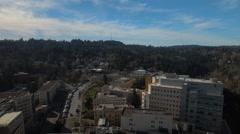 Aerial Oregon Portland OHSU Stock Footage
