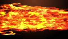 Animation of huge fireball flame blasting beam and burning everything Stock Footage