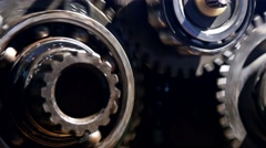 gear transmission car, close-up  - stock footage