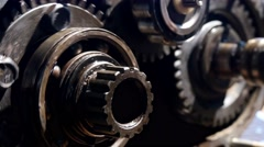 Transmission mechanism of the car, close-up  Stock Footage