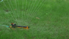 Equipment for watering lawns - stock footage