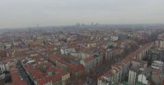 MILAN // European City // Aerial Footage - Riprese Aeree // 4K Stock Footage