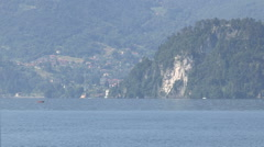 Boats in the Lake Como Stock Footage