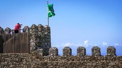 Moorish castle scenery - Sintra, Portugal - stock photo