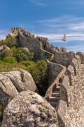 Moorish castle scenery - Sintra, Portugal Stock Photos