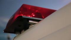 Ambulance siren flashing - stock footage