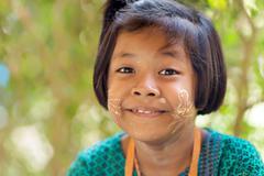 Thai little girl portrait Stock Photos