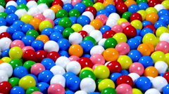 Colorful rotating gum balls Stock Footage