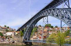 Bridge Dom Louis over the river Douro. Porto, Portugal - stock photo