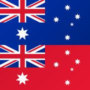 Flag of Australia, Australian Red Ensign Stock Illustration