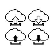 Cloud with arrow icon Stock Illustration