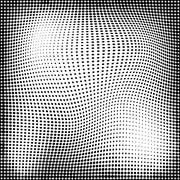 Abstract geometry seamless halftone pattern Stock Illustration